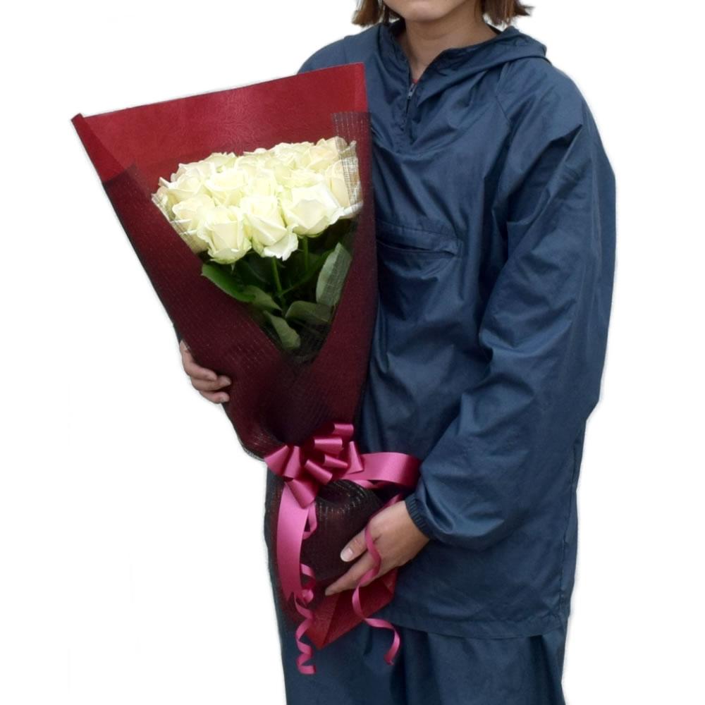 アヴァランチェ 白薔薇 50cm 20本