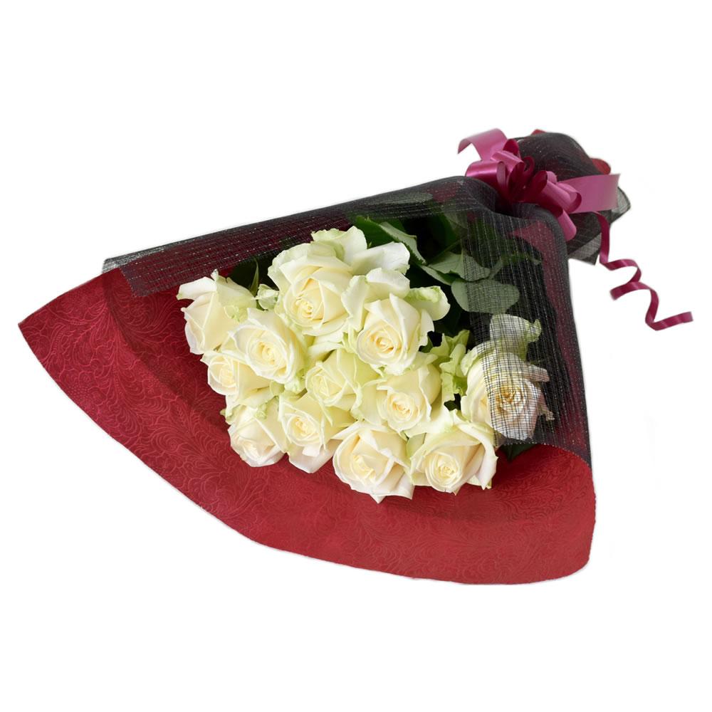 アヴァランチェ 白薔薇 50cm 12本