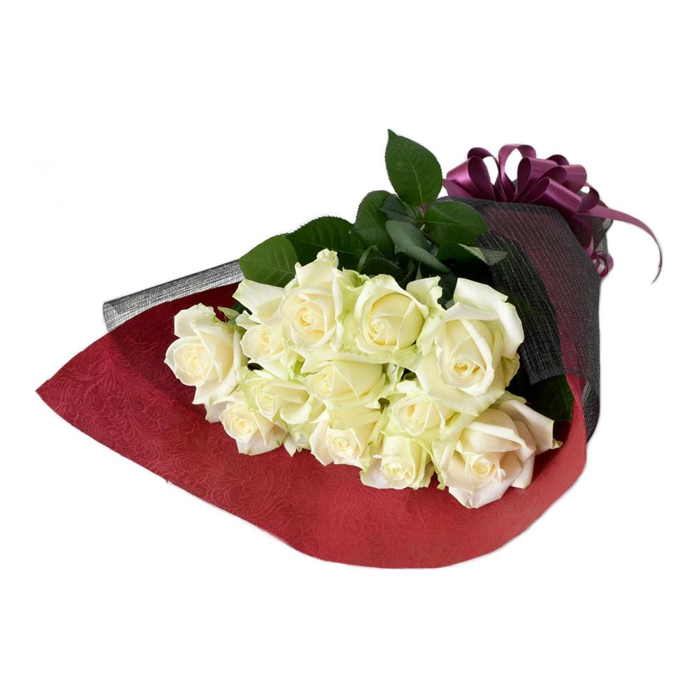 アヴァランチェ 白バラ 50cm 12本