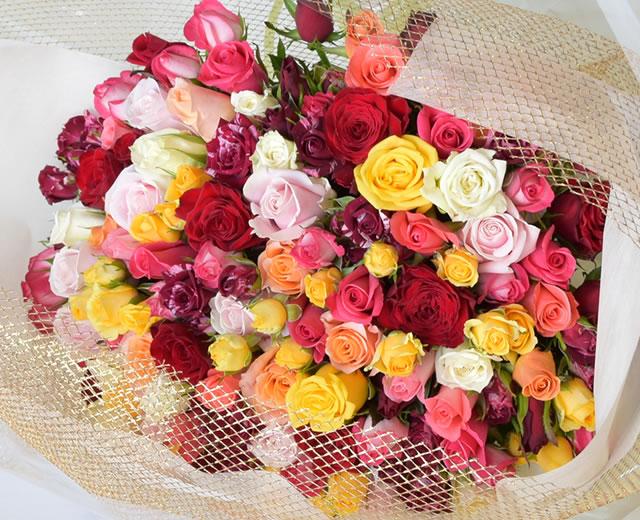 101本のバラ花束