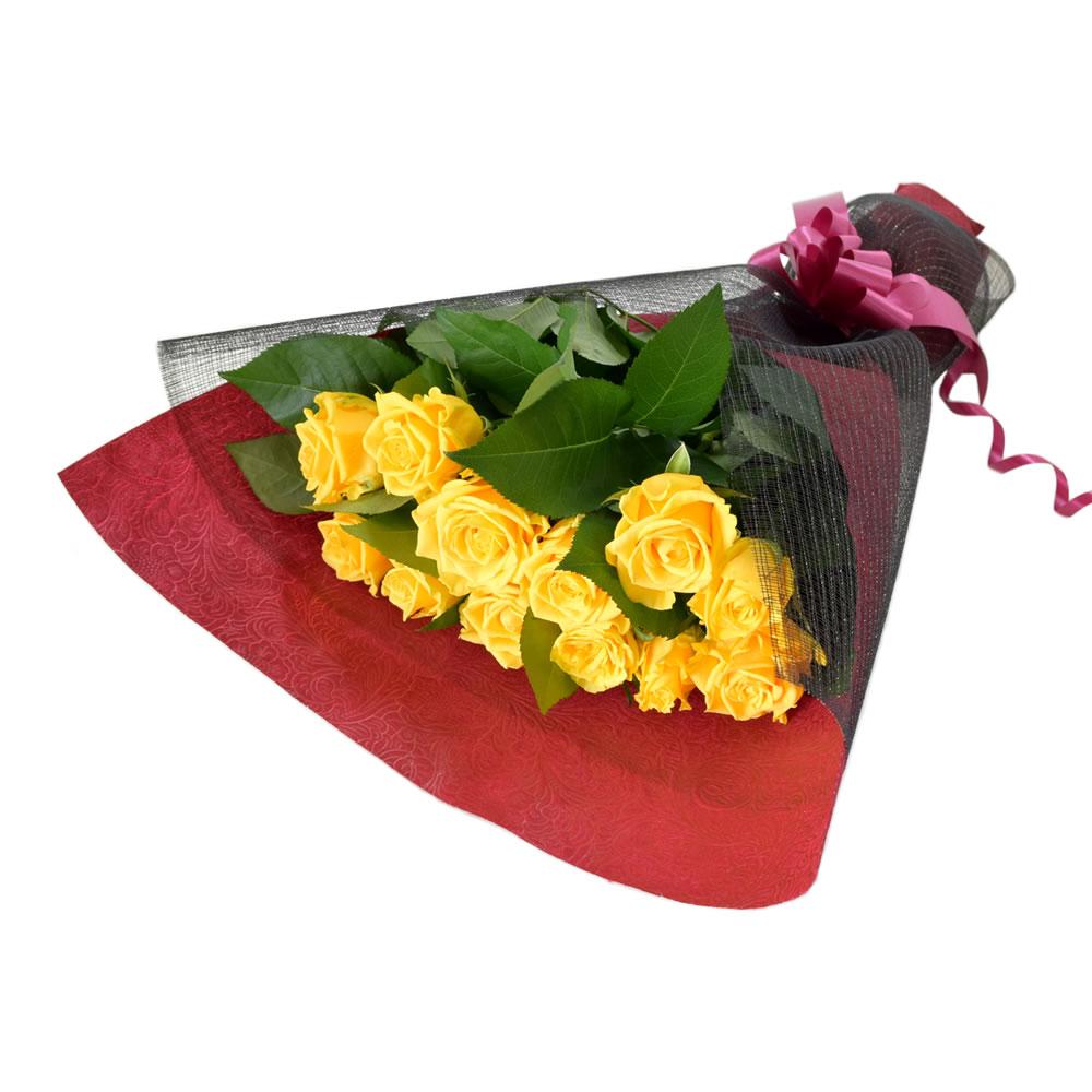 ソラーレ 黄色薔薇 50cm 12本