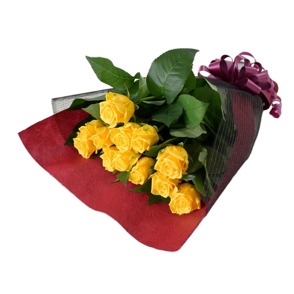 ソラーレ 黄色バラ 50cm 12本