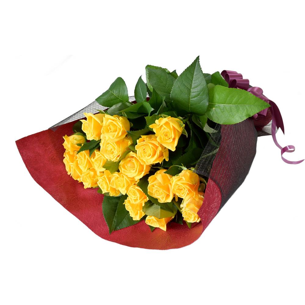 ソラーレ 黄色バラ 60cm 20本