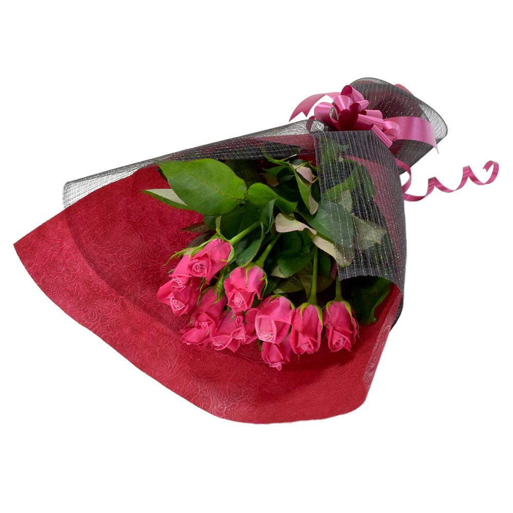 タージマハル 濃いピンク薔薇 50cm 12本