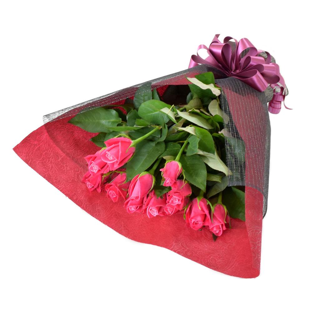 タージマハル 濃いピンクバラ 50cm 12本